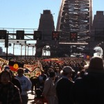 Reconciliation walk across Sydney Harbour Bridge on 28 May 2000 (photograph courtesy City of Sydney Archives - C.Moore Hardy Collection: 66074)