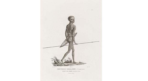 Norou-gal-derri s'avançant pour combattre 1802 (Nicholas-Martin Petit). Courtesy, State Library of NSW