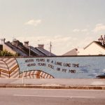 40,000 Years mural shortly after completion in 1983 (photograph courtesy Carol Ruff)