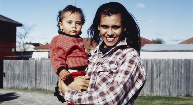 Mary Mumbulla and Murri Craigie, 1993 (photograph by Brenda Croft, courtesy Art Gallery of NSW)