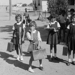 School children at Moree Aboriginal Reserve, February 1965 (Image courtesy State Library of NSW, ON 161/220)