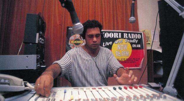 Trevor Dodds, presenter of Koori Radio 93.7FM (photograph courtesy Gadigal Information Service Archive)