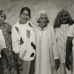 Moree women (Mehi Crescent Mission, Moree, from left: Ms Jenkins, Ruth Roberts, Mary Stanley, Maude Wright, Jessie Fernando, Dotti Sampson), 1990, by Michael Riley (State Library of NSW)