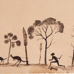Tommy McRae Spearing the kangaroo c1880s-c1890s (Art Gallery of NSW collection, purchased 2004)