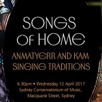 Songs of home, image courtesy Sydney Conservatorium of Music