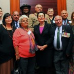 Participants in the City of Sydney's oral history project to honour Aboriginal and Torres Strait Islander men and women who served their country, with Lord Mayor Clover Moore (Image courtesy Barbara McGrady / City of Sydney)