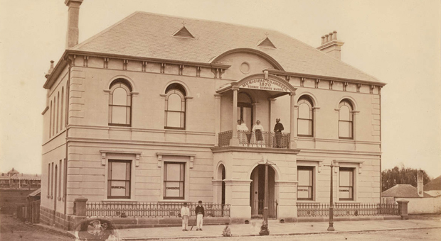 Redfern Town Hall in 1871 (photograph courtesy Mitchell Library, State Library of NSW - SPF / 727)