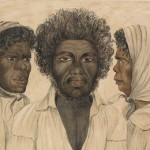Portraits of Biddy Salamander of the Broken Bay Tribe, Bulkabra Chief of Botany, Gooseberry Queen of Bungaree, as depicted by Charles Rodius in 1834 (Mitchell Library, State Library of NSW - SAFE / PXA 615, Digital Order No. a1114010)