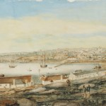 Sydney from the western side of the Cove c 1803, attributed to G W Evans (image courtesy State Library of NSW - XV1 / 1803 / 1)